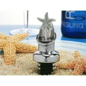 Starfish Design Wine Pourer, Bottle Stopper Combination