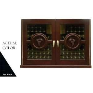 Series Wine Cellar Credenza   Glass Doors / Black Cabinet Appliances