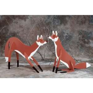 Front Yard Foxes Paper Woodworking Plan Home Improvement