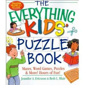The Everything Kids Puzzle Book Mazes, Word Games, Puzzles