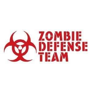 ZOMBIE DEFENSE TEAM   6 RED   Vinyl Decal Window Sticker