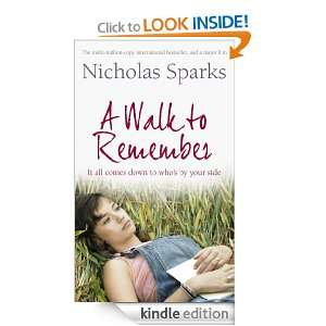 Walk to Remember Nicholas Sparks  Kindle Store
