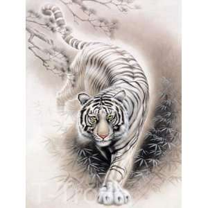 White Tiger Wall Scroll R05