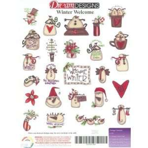 Winter Welcome Embroidery Designs on a Multi Format USB STICK