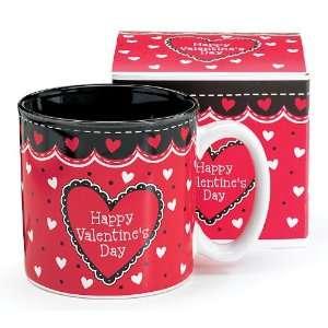 Viva Valentine Happy Valentines Day Mug in Gift Box