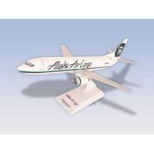 Sky Marks Alaska Airlines 737 400 Salmon 3 Salmon Plane Model   1130