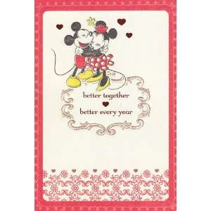 Greeting Card Valentines Day Disney Mickey Better Together, Better