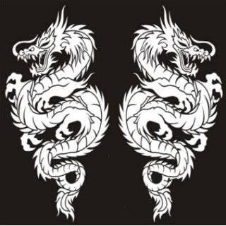 LT 00433 Blue Dragon Left Graphic Lethal Threat Decal Automotive
