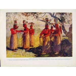 Masked Dancers Opaina River Apaporis Brazil Color Print