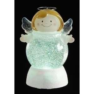 Pack of 3 LED Lighted Angel Christmas Snow Globe Glitterdomes 7.5