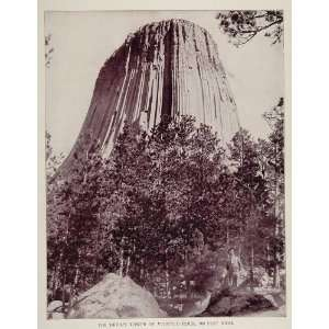 1893 Print Devils Tower National Monument Rock Wyoming