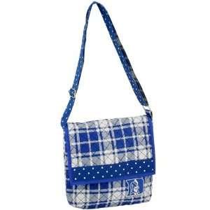 Duke Blue Devils Duke Blue Plaid Quilted Messenger Bag