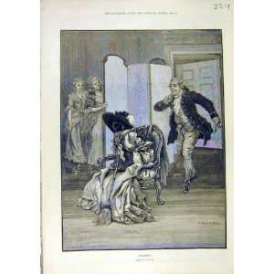 Hoaxed Comedy Sketch Cox Man Ladies Fine Art 1890 Print