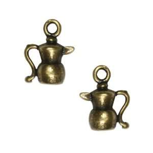 Antiqued Brass Plated Teapot Charm 12.5mm (2) Arts