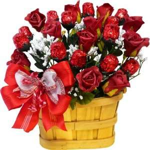 Sweetheart Chocolate Rose Candy Bouquet   1 Dozen Red Chocolate Roses