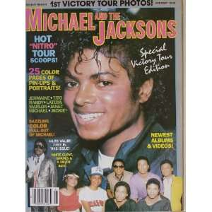 Michael And The Jacksons Special Victory Tour Edition Magazine From