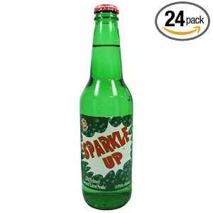 Real Soda Sparkle up Old School Lemon Lime Soda 12 Oz. Glass Bottles