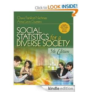 Statistics for a Diverse Society: Dr. Chava Frankfort Nachmias, Dr