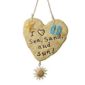 I Love the Sea, Sand and Sun Sand Heart Ornament