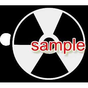 RADIOACTIVE SIGN WHITE VINYL DECAL STICKER Everything