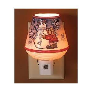 Boyds Bear Chilly & Willie Porcelain Night Light