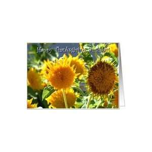 Happy Thanksgiving Birthday Sunflowers Card: Health