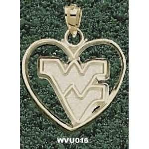 West Virginia Univ Wv Heart Charm/Pendant Sports
