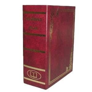 World Atlas   Large Metal Diversion Book Safe/Bank With