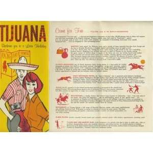 Tijuana Mexico Tourist Brochure 1950s Latin Holiday