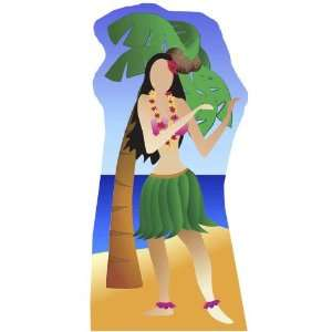 Hula Girl Stand in   Beach Party Lifesize Cardboard Cutout