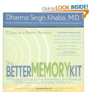 The Better Memory Kit [Paperback]: Dharma Singh Khalsa: Books