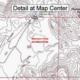 USGS Topographic Quadrangle Map   Massacre Peak, New Mexico (Folded