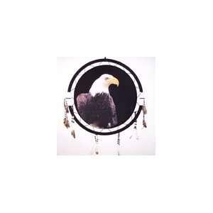 American Indian Jumbo Eagle Head War Shield Dream Catcher