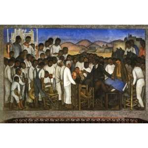 Hand Made Oil Reproduction   Diego Rivera   32 x 22 inches