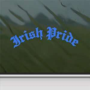 Irish Pride Blue Decal Car Truck Bumper Window Blue