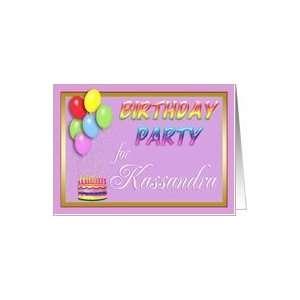Kassandra Birthday Party Invitation Card Toys & Games