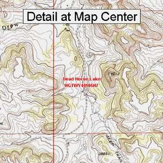 USGS Topographic Quadrangle Map   Dead Horse Lake, Wyoming (Folded