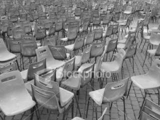 Haphazard Sea of Chairs Royalty Free Stock Photo