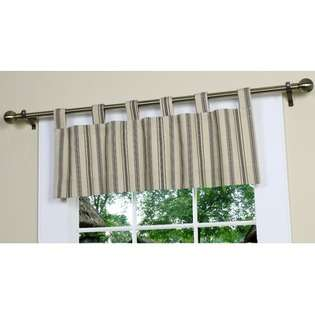 Weathermate Stripe Insulated Stripe Tab Top Valance in Khaki