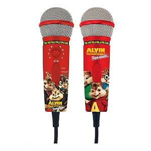 Alvin and the Chipmunks Dual Plug n Sing Microphones with 100 Song
