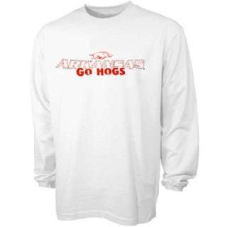 Arkansas Razorbacks Youth White Go Hogs Long Sleeve T shirt