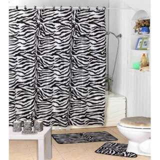 Bathroom Accessories  on Complete Bath Accessory Set   Black Bathroom Rugs   Zebra Print Shower