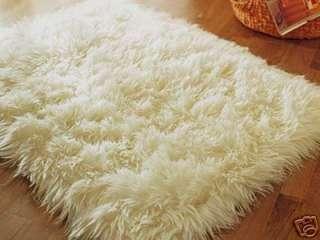 SHEEPSKIN GOAT FAUX FUR RUG PELT HIDE 3x5 NEW items in ecofo store on