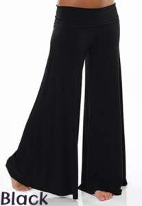 girl Hollywood Gaucho Pants Black Wide Long Dance