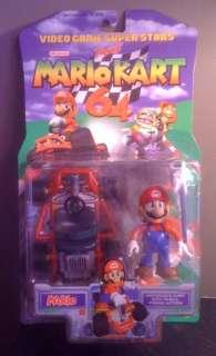 MARIO KART 64 MARIO FIGURE SUPER MIB RARE 1999 TOY BIZ