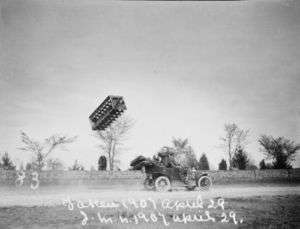 Tetrahedral kite Codger flown from an automobile