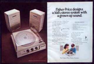 Vintage Magazine Ad Fisher Price Stereo System