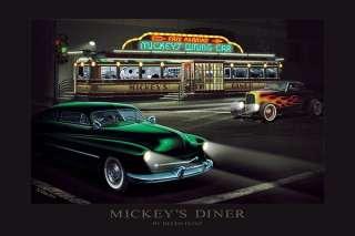 Mickeys Diner Art Print by Helen Flint at Barewalls