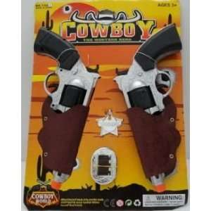 Cowboy Toy Colt Pistol Guns In Holster And Sheriff Badge Toys & Games