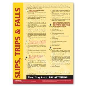 Slips, Trips, & Falls Poster   Spanish: Office Products